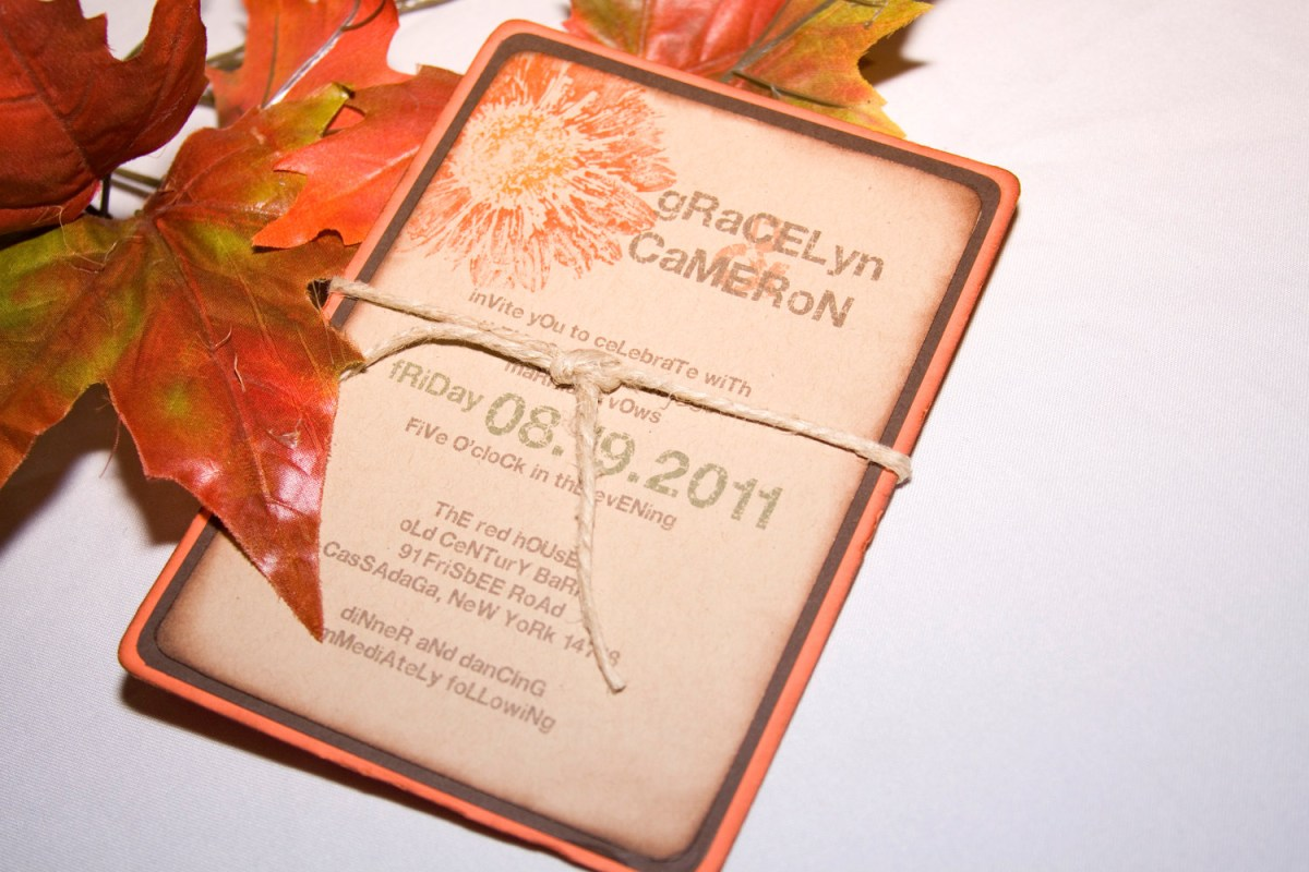 Fall Wedding Invitation Allcargos Tent Event Rentals Inc Autumn Wedding Invitations