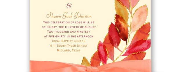 Fall Wedding Invitation Feathered Fall Invitation Invitations Dawn