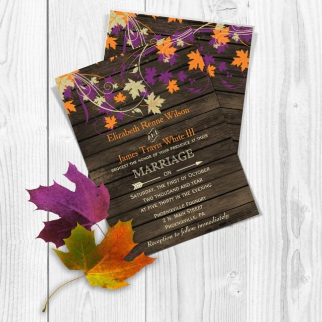 Fall Wedding Invitation Printable Wedding Invitation Template Fall Wedding Invitations