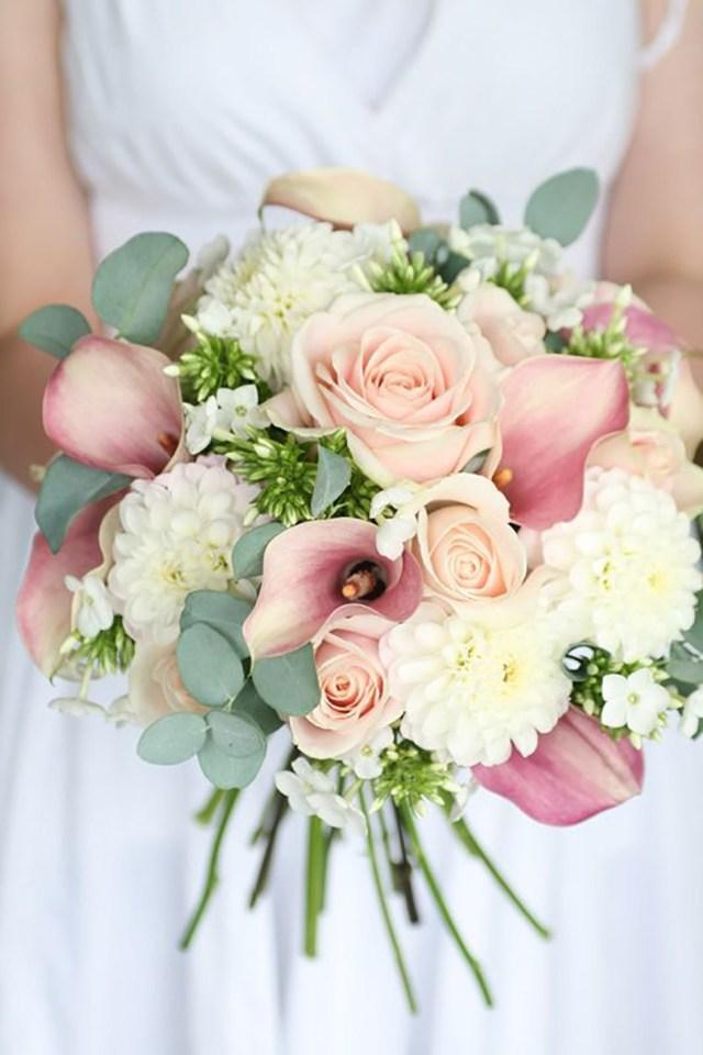 Flower For Wedding Pastel Pink Wedding Flowers Chwv