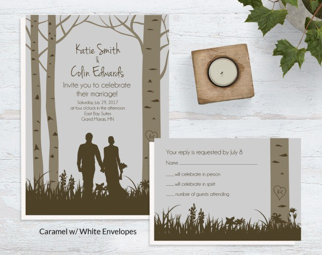 Forest Wedding Invitations Forest Wedding Invites Wild Blue Weddings