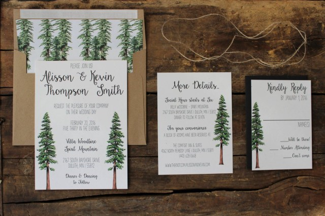 Forest Wedding Invitations Redwood Tree Wedding Invitation In 2018 Invites Pinterest
