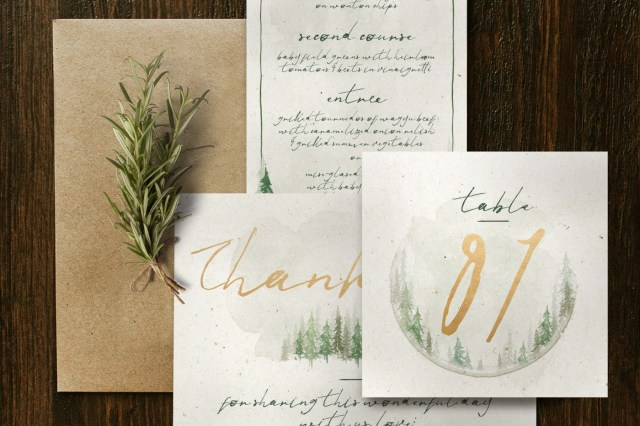 Forest Wedding Invitations Watercolor Forest Wedding Invitation Suite Klapauciusco