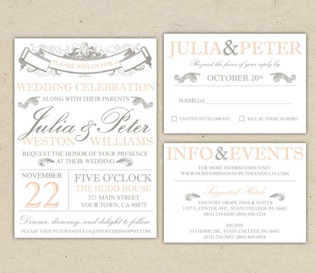 Free Printable Wedding Invitations Vintage Modern Wedding Invitation Template Printable Diy 1053 3
