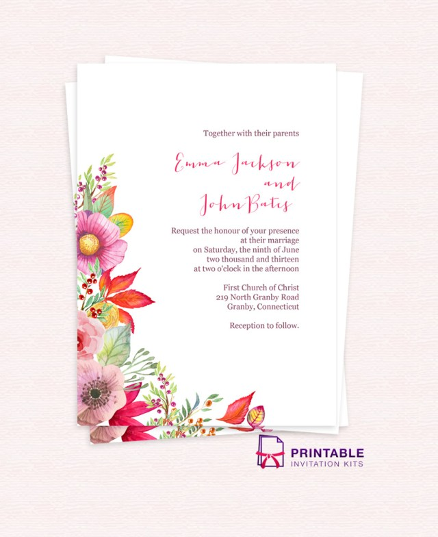 Free Wedding Invitations 8 Amazing Free Wedding Invitation Templates Wa Weddings