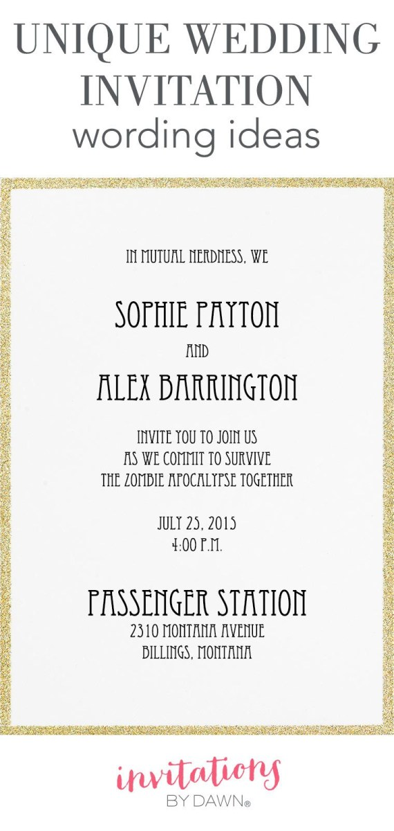 30+ Amazing Image of Funny Wedding Invitation Wording