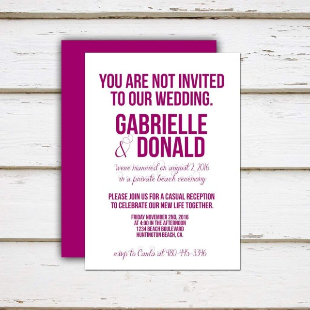 Funny Wedding Invitation Wording Funny Beach Wedding Invitation Wording Destination Elopement