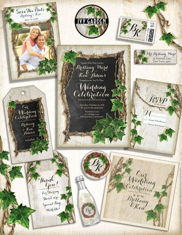 Garden Wedding Invitations Ivy Garden Wedding Invitations Vintageweddinginvitation