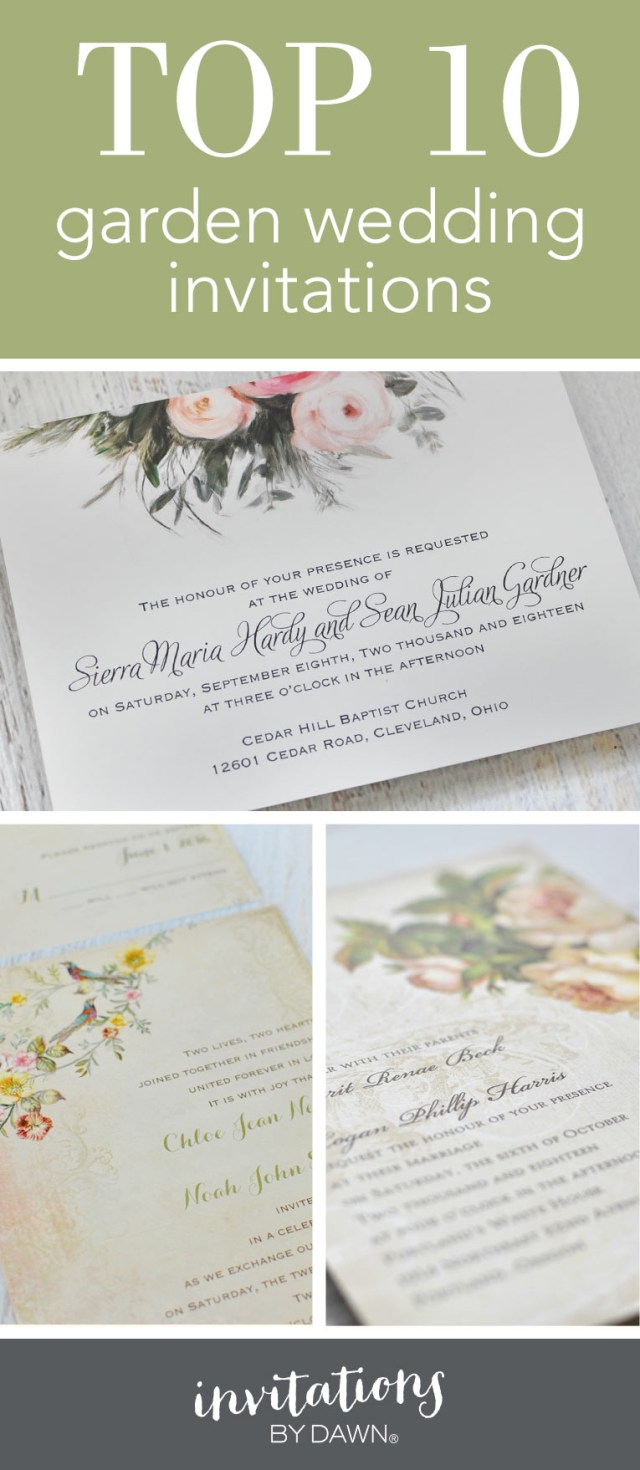 Garden Wedding Invitations Top 10 Garden Wedding Invitations