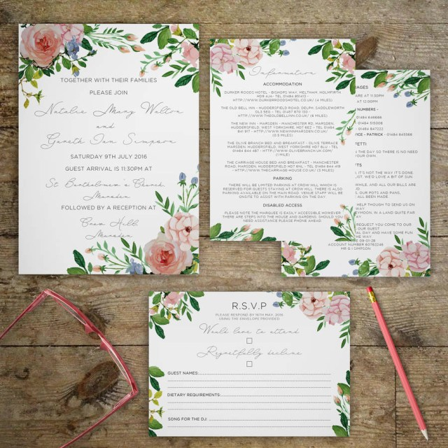 Garden Wedding Invitations Vintage Garden Wedding Invitations Gray Starling Designs