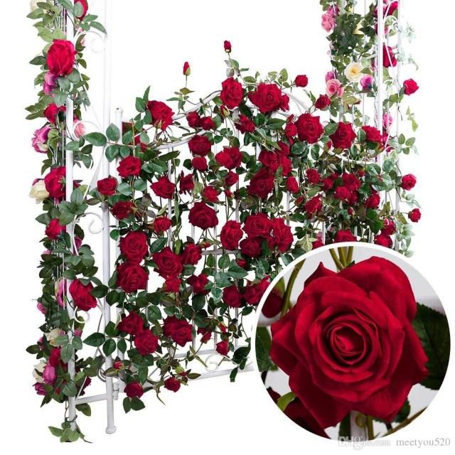 Garland Wedding Decor 2019 Artificial Rose Flower Garland Bridal Wedding Decoration Craft