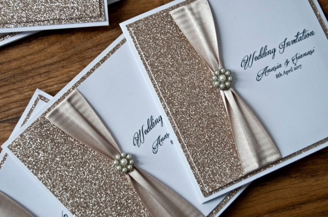Glitter Wedding Invitations Champagne Glitter Wedding Invitation