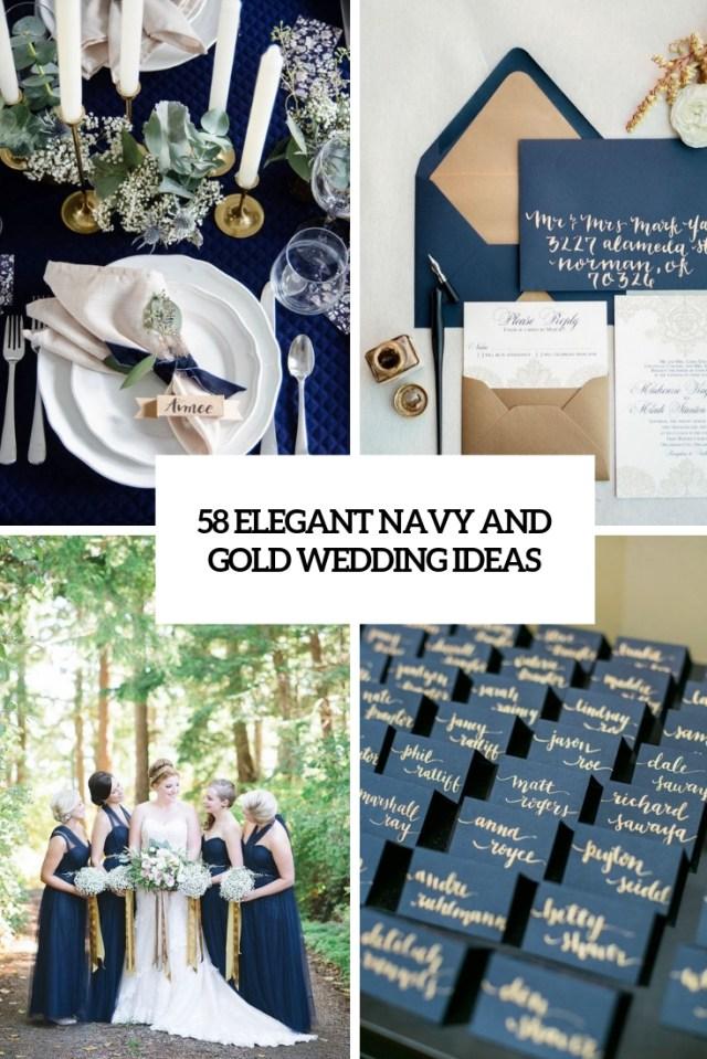 Gold Wedding Decor 58 Elegant Navy And Gold Wedding Ideas Weddingomania
