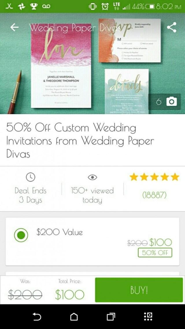 Groupon Wedding Invitations Groupon Deal For Wedding Paper Divas Weddings Planning Wedding