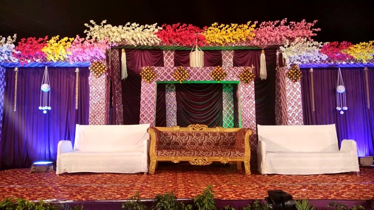 House Wedding Decorations Balaji Dham Tent House Wedding Theem Decoration Youtube