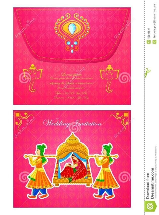 Indian Wedding Invitation Indian Wedding Invitation Card Stock Vector Illustration Of