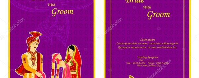 Indian Wedding Invitation Indian Wedding Invitation Card Stock Vector Stockshoppe 61545929