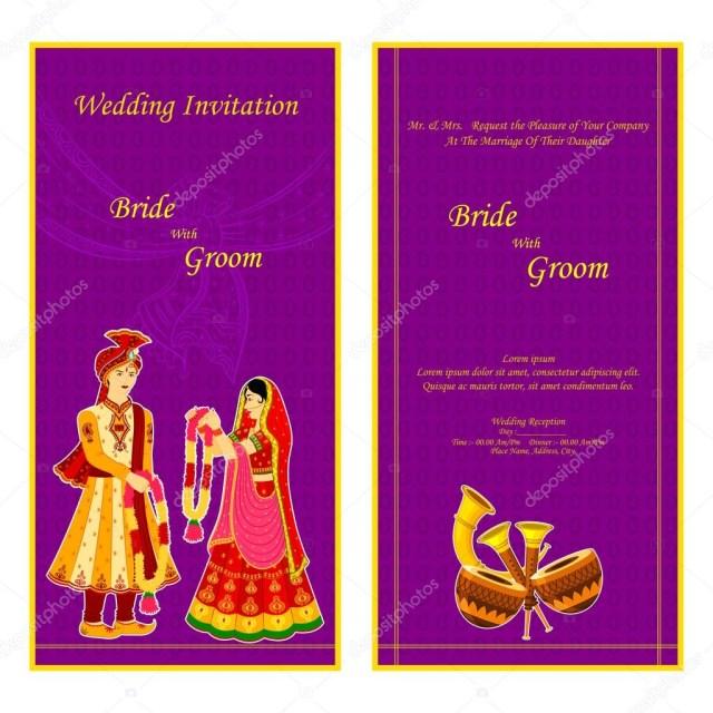 Indian Wedding Invitation Indian Wedding Invitation Card Stock Vector Stockshoppe 61545929
