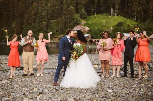 Intamite Wedding Ceremony Intimate Wedding In The Alaskan Wilderness Green Wedding Shoes