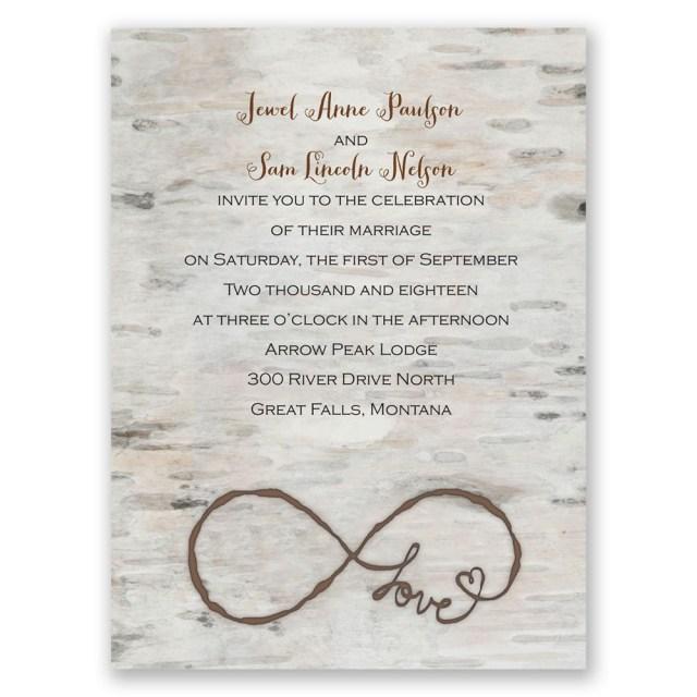 Invitations For Wedding Love For Infinity Petite Invitation Invitations Dawn