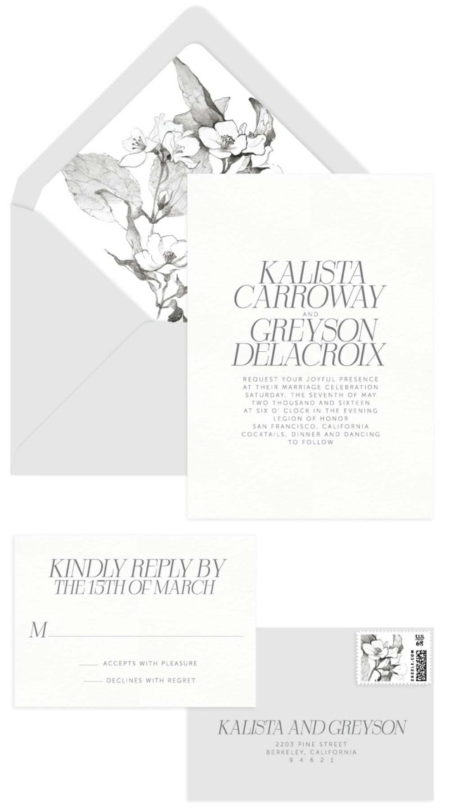 Invitations For Wedding Lovely Minimalist Invitations For A Modern Wedding Weddingbells