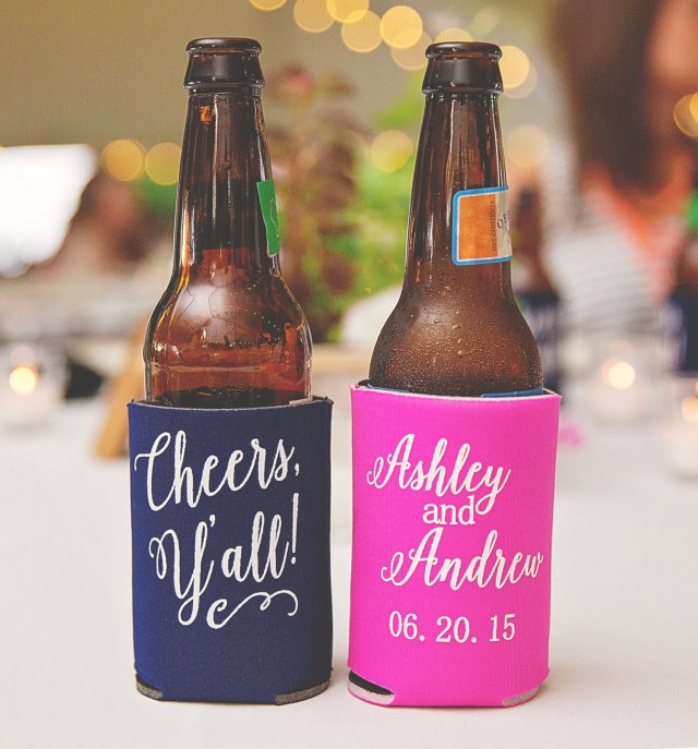 Koozie Ideas Wedding Can Cooler Favors Where To Buy Custom Can Coolers For Weddings