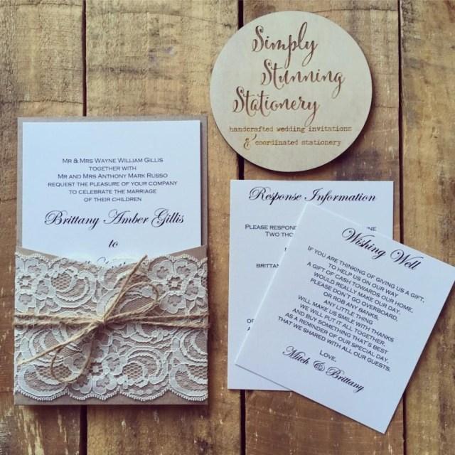 Kraft Wedding Invitations Wedding Invitation Rustic Kraft Pocket Wedding Invitations Sample