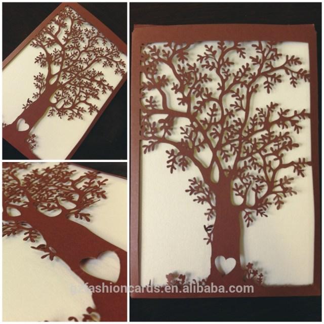 Laser Cut Tree Wedding Invitations Cuztomized Name New Design Artificial Laser Cut Tree Wedding