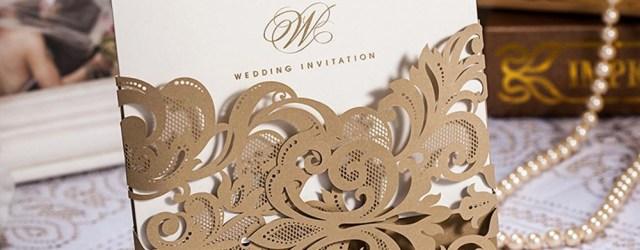 Laser Wedding Invitations Laser Cut Wedding Invitations Card Lace Flower Pattern Champange