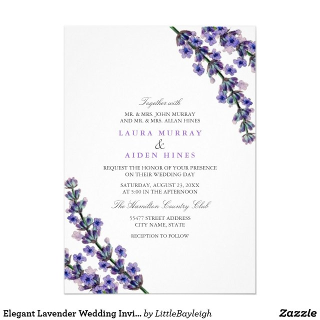 Lavender Wedding Invitations Elegant Lavender Wedding Invitation Lavender Wedding Invitations