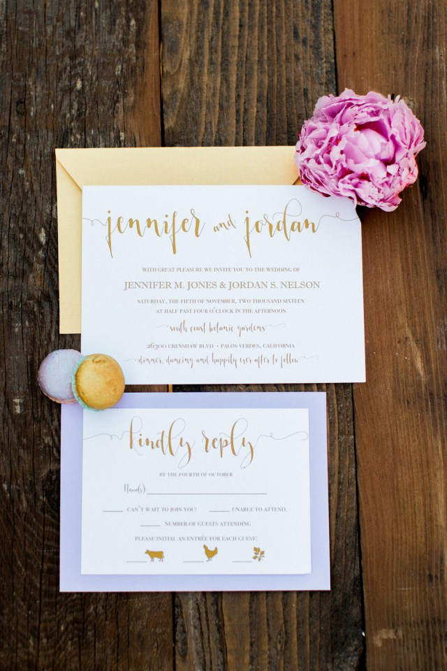 Lavender Wedding Invitations Hadley Designs Featured Invitations
