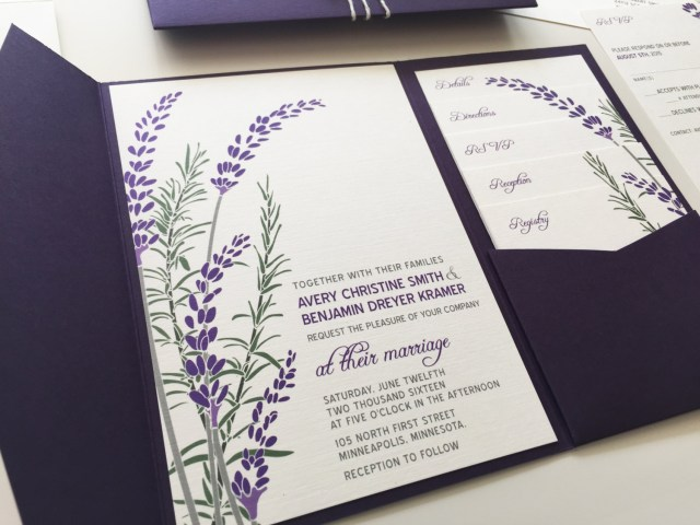 Lavender Wedding Invitations Lavender Wedding Invitations Lavender Wedding Invitations