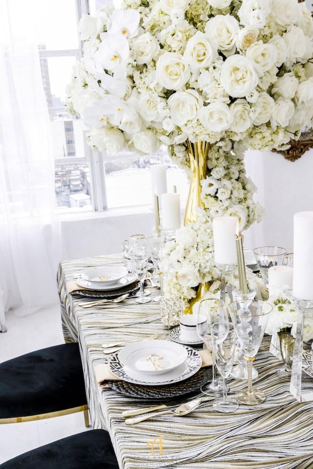 Luxury Wedding Decor Black And Gold Luxury Wedding Decor Elles Couture Events Perfete