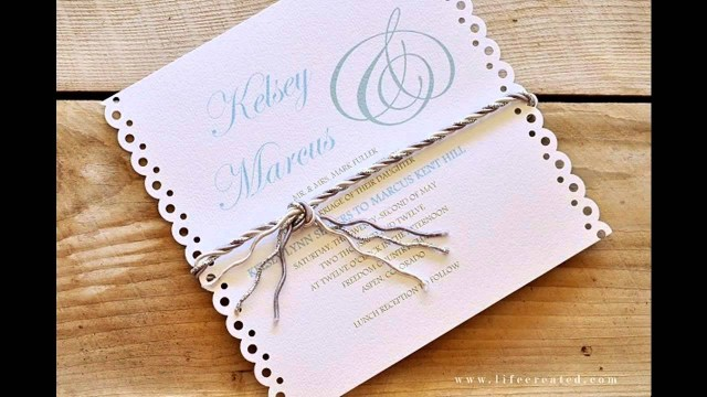 Making Wedding Invitations Easy Simple Diy Wedding Invitation Ideas Youtube