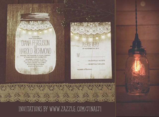 Mason Jar Wedding Invitation Kits Mason Jar And String Lights Wedding Invitations Need Wedding Idea