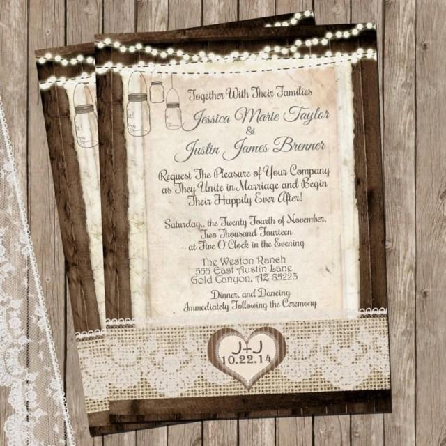 Mason Jar Wedding Invitation Kits Mason Jar Wedding Invitations Card Ideas Wedding Academy Creative