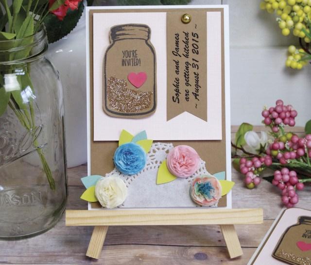 Mason Jar Wedding Invitation Kits Simple Diy Summer Wedding Invitations Fiskars