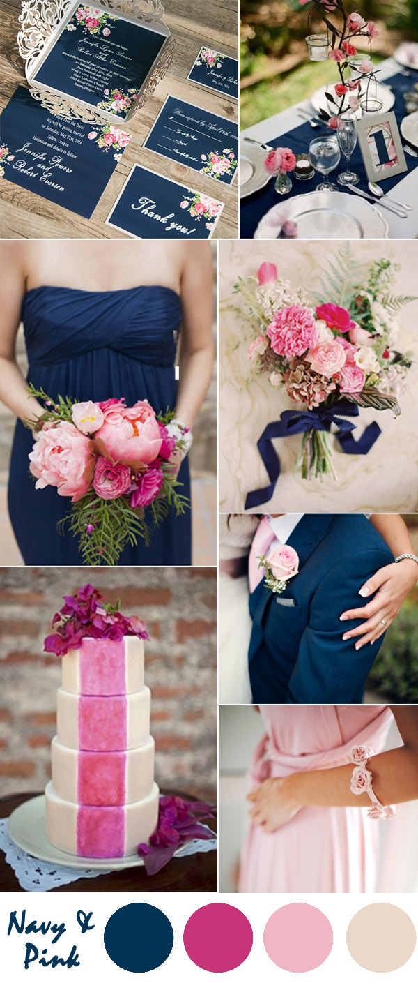 May Wedding Ideas Ten Most Gorgeous Navy Blue Wedding Color Palette Ideas For 2016
