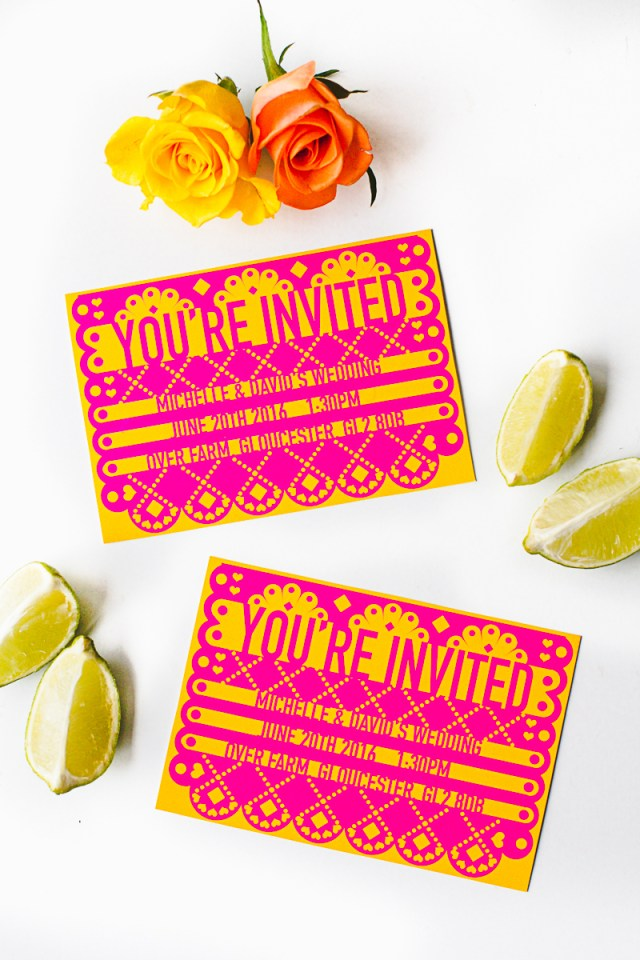 Mexican Wedding Invitations Free Printable Editable Papel Picado Mexican Wedding Invitation