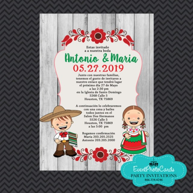 Mexican Wedding Invitations Mexican Traditional Wedding Invitations Invitaciones De Boda Estilo