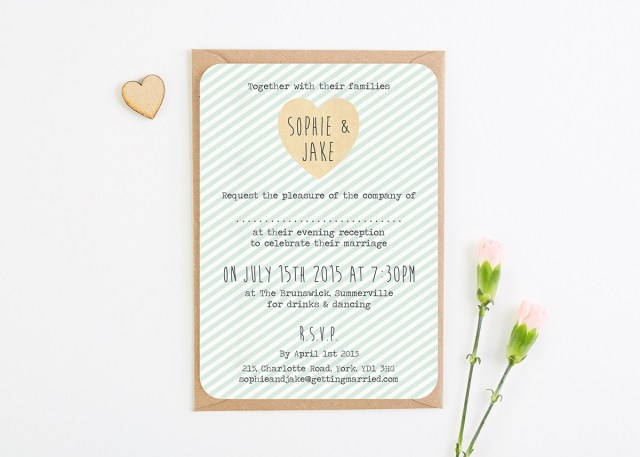 Minted Wedding Invitations Mint Stripe Evening Wedding Invitations Normadorothy