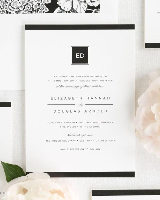 Modern Wedding Invitations Modern Glamour Wedding Invitations Wedding Invitations Shine