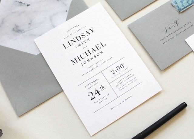 Modern Wedding Invitations Modern Wedding Invitations Marble Wedding Invitation Simple