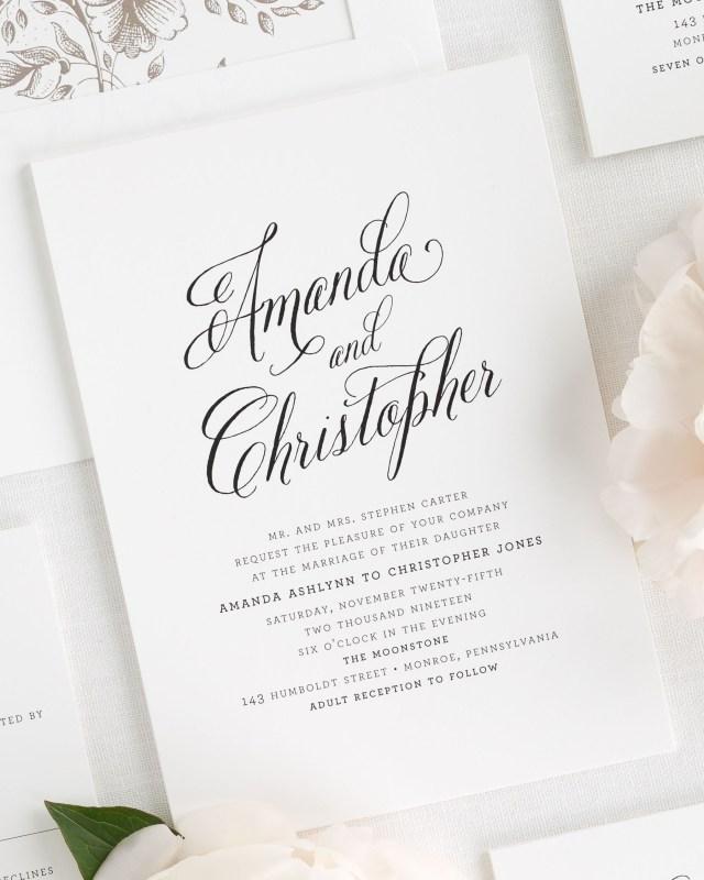 Modern Wedding Invitations Rustic Modern Wedding Invitations Wedding Invitations Shine