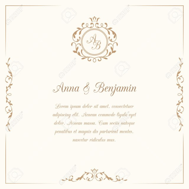 Monogram Wedding Invitations Invitation Card With Monogram Wedding Invitation Save The Date