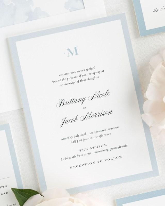 Monogram Wedding Invitations Upscale Monogram Wedding Invitations Wedding Invitations Shine