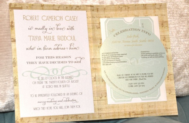 Music Themed Wedding Invitations Vintage Music Theme Wedding Invitation Designed Nina Miller Of