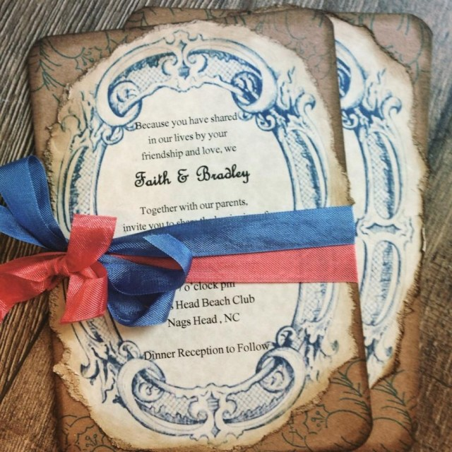 Navy And Coral Wedding Invitations Rustic Coral Wedding Invitation Boho Wedding Invitation Coral And
