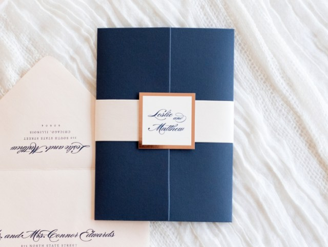 Navy Blue And Gold Wedding Invitations Elegant Formal Wedding Invitation In Navy Blue Blush Shimmer
