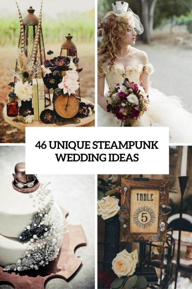 Original Wedding Ideas 46 Unique Steampunk Wedding Ideas Weddingomania